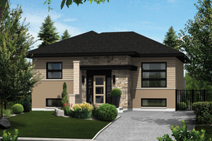 House Plan Design - Contemporary Exterior - Front Elevation Plan #25-4265