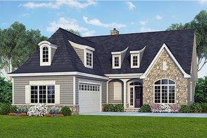 Cottage Exterior - Front Elevation Plan #929-23