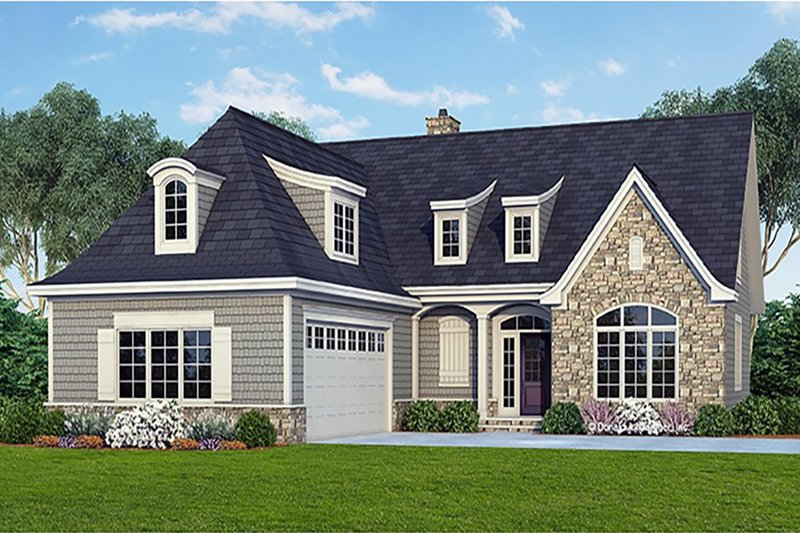 Cottage Style House Plan - 4 Beds 4 Baths 2769 Sq/Ft Plan #929-23 Exterior - Front Elevation