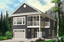 Home Plan - Traditional Exterior - Front Elevation Plan #23-442
