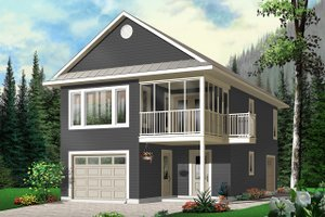 Home Plan Design - Traditional Exterior - Front Elevation Plan #23-442