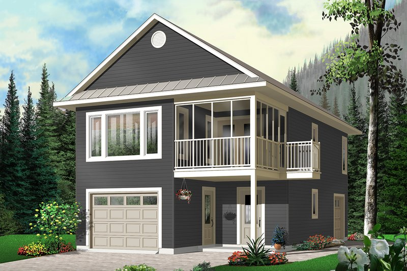 Dream House Plan - Traditional Exterior - Front Elevation Plan #23-442