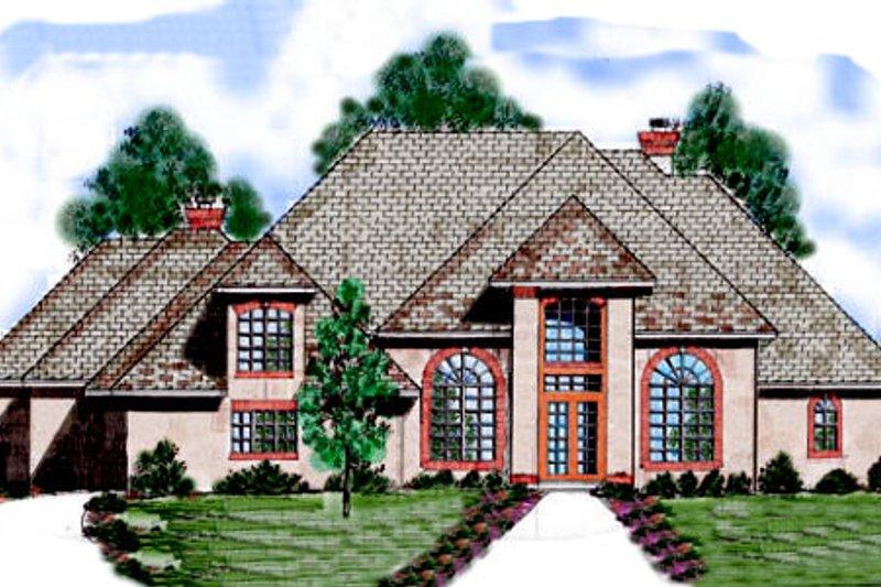European Exterior - Front Elevation Plan #52-176 - Houseplans.com