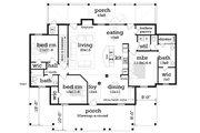 Ranch Style House Plan - 4 Beds 3 Baths 2754 Sq/Ft Plan #45-579 Floor Plan - Main Floor
