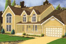 Home Plan - Country Exterior - Front Elevation Plan #3-264