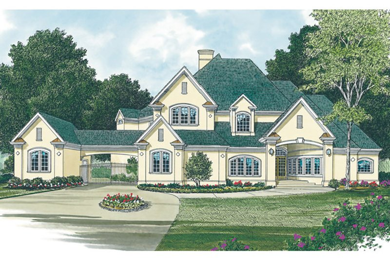 Traditional Exterior - Other Elevation Plan #453-45 - Houseplans.com