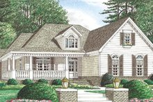 Dream House Plan - Country Exterior - Front Elevation Plan #34-118