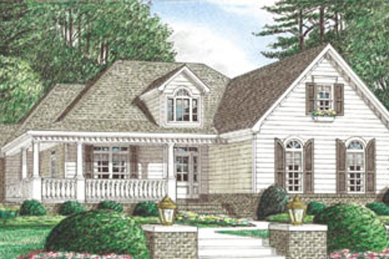 House Plan Design - Country Exterior - Front Elevation Plan #34-118