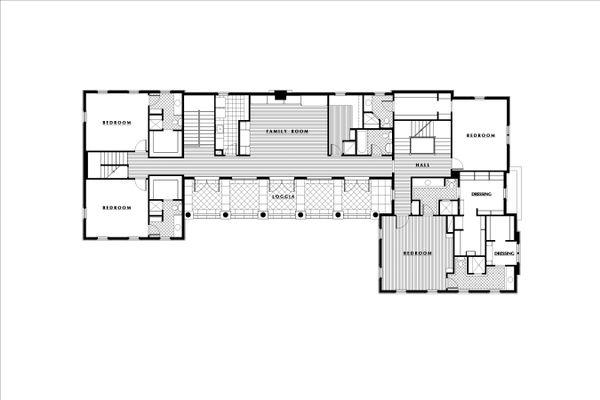European Floor Plan - Upper Floor Plan Plan #531-3