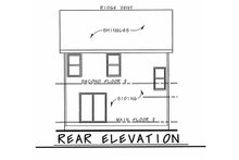 Architectural House Design - Traditional Exterior - Rear Elevation Plan #20-2407