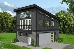 Architectural House Design - Contemporary Exterior - Front Elevation Plan #932-403