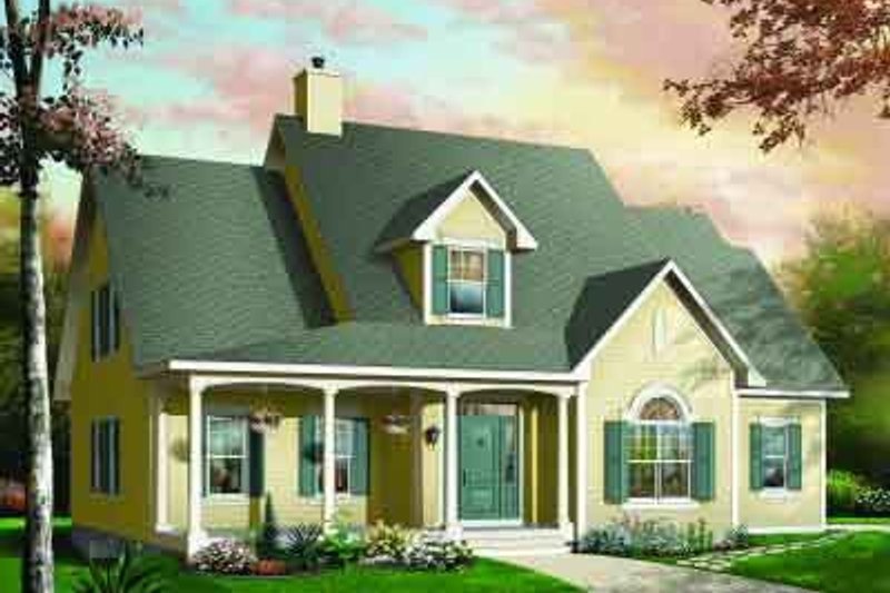 Traditional Exterior - Front Elevation Plan #23-530