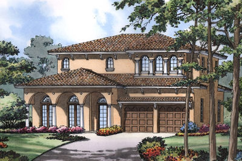 European Exterior - Front Elevation Plan #417-284