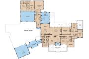 European Style House Plan - 5 Beds 5.5 Baths 5695 Sq/Ft Plan #923-74 Floor Plan - Main Floor Plan