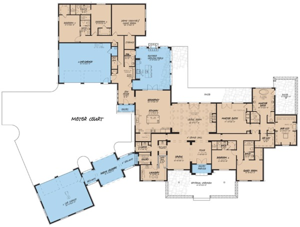 European Floor Plan - Main Floor Plan Plan #923-74