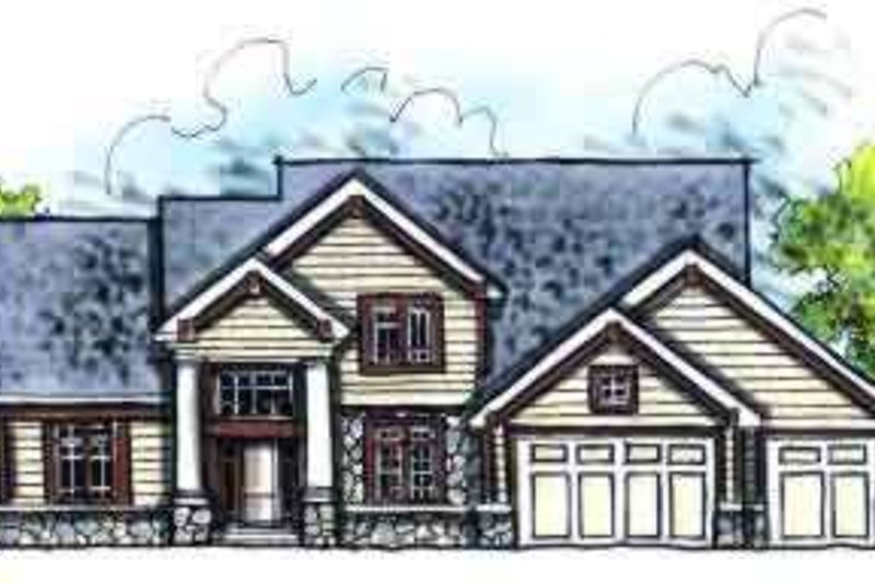 Craftsman Style House Plan - 4 Beds 2.5 Baths 2498 Sq/Ft Plan #70-623 Photo