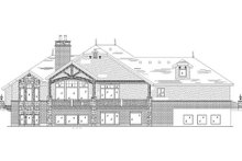 European Exterior - Rear Elevation Plan #5-459