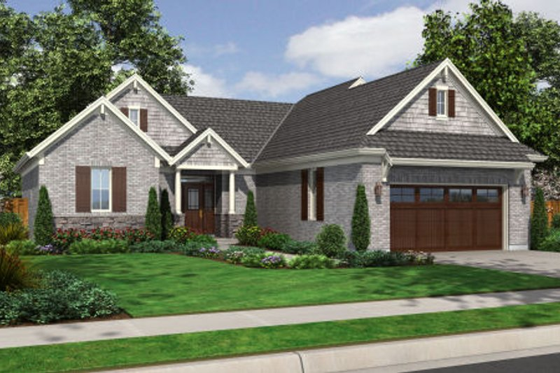 Dream House Plan - Traditional Exterior - Front Elevation Plan #46-467