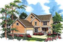 Dream House Plan - Traditional Exterior - Front Elevation Plan #48-208