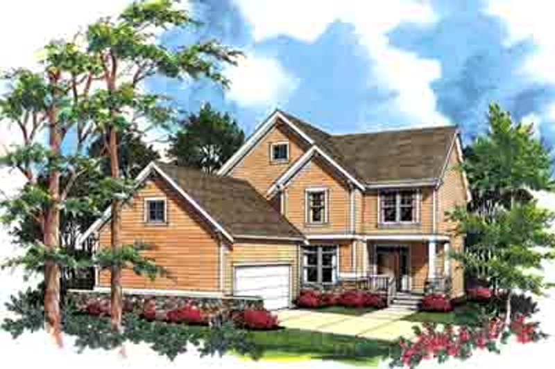 Traditional Exterior - Front Elevation Plan #48-208 - Houseplans.com