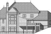 European Style House Plan - 4 Beds 2.5 Baths 4050 Sq/Ft Plan #70-639 Exterior - Rear Elevation