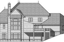House Plan Design - European Exterior - Rear Elevation Plan #70-639