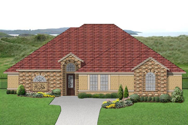 Dream House Plan - Mediterranean Exterior - Front Elevation Plan #84-529