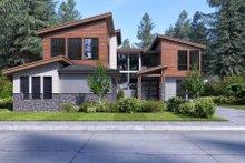 House Plan Design - Contemporary Exterior - Front Elevation Plan #1066-66