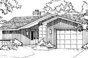 Ranch Style House Plan - 1 Beds 1 Baths 843 Sq/Ft Plan #320-323 Exterior - Front Elevation