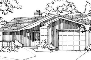 Ranch Exterior - Front Elevation Plan #320-323