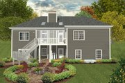 Craftsman Style House Plan - 3 Beds 2 Baths 1800 Sq/Ft Plan #56-631 Exterior - Rear Elevation