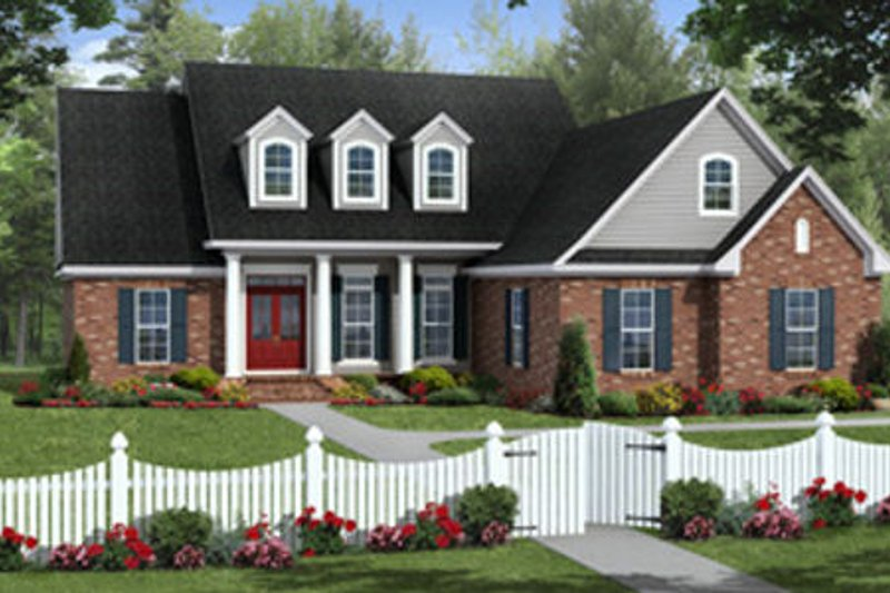 Country Exterior - Front Elevation Plan #21-315
