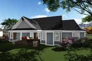 Ranch Style House Plan - 2 Beds 2.5 Baths 2318 Sq/Ft Plan #70-1273 Exterior - Rear Elevation