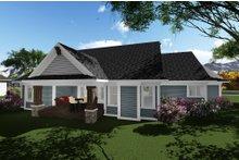 Dream House Plan - Ranch Exterior - Rear Elevation Plan #70-1273