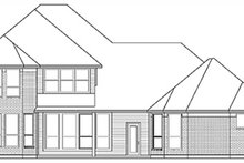 Home Plan - European Exterior - Rear Elevation Plan #84-261
