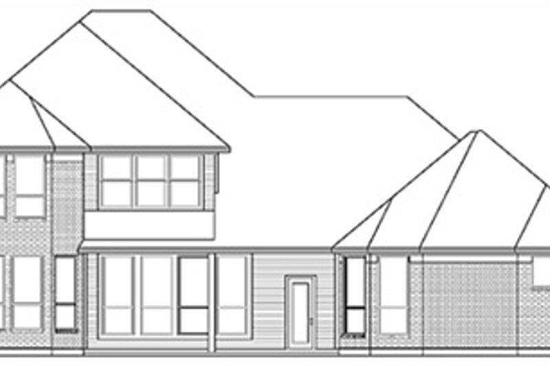 European Exterior - Rear Elevation Plan #84-261 - Houseplans.com