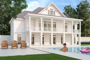 Ranch Style House Plan - 4 Beds 3 Baths 2754 Sq/Ft Plan #45-579 Exterior - Rear Elevation