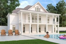 Architectural House Design - Ranch Exterior - Rear Elevation Plan #45-579