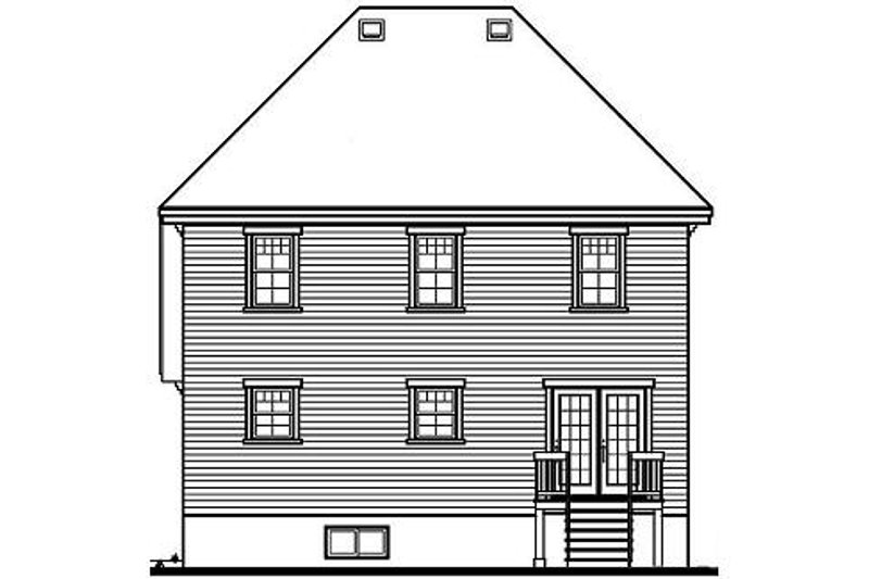European Exterior - Rear Elevation Plan #23-355 - Houseplans.com