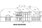 European Style House Plan - 5 Beds 4.5 Baths 4762 Sq/Ft Plan #141-248 Exterior - Rear Elevation