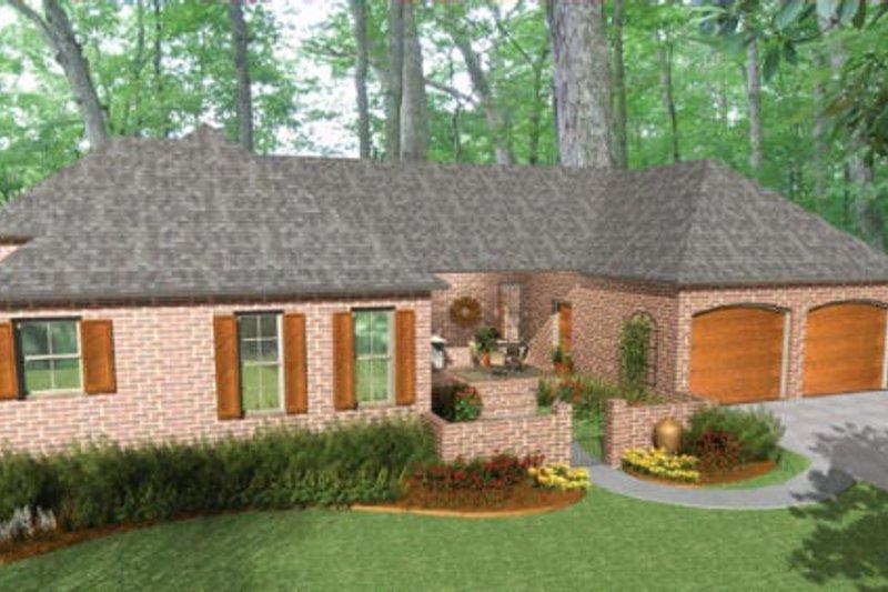 Traditional Exterior - Rear Elevation Plan #406-9617 - Houseplans.com