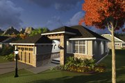 Ranch Style House Plan - 2 Beds 2 Baths 1360 Sq/Ft Plan #70-1235 Exterior - Front Elevation