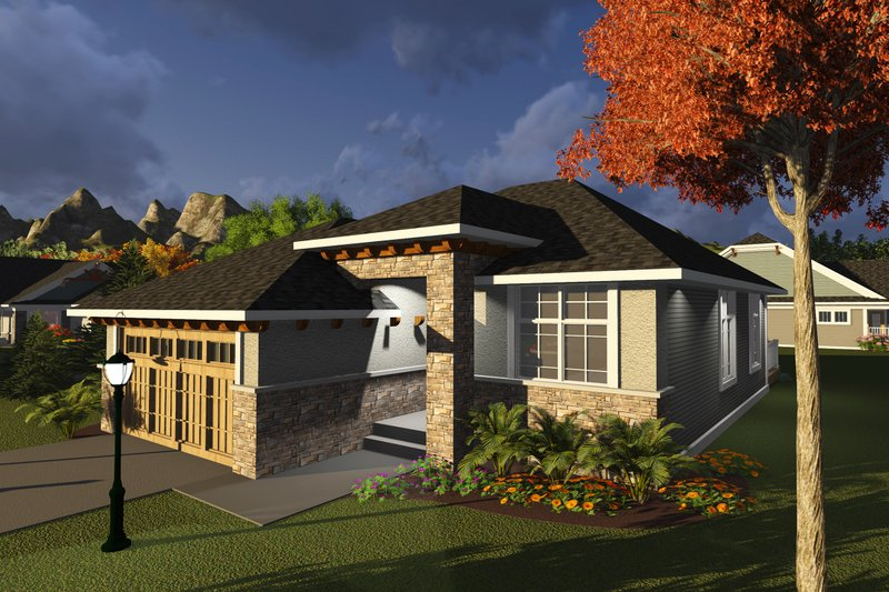 Home Plan Design - Ranch Exterior - Front Elevation Plan #70-1235