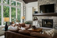 Architectural House Design - Traditional Interior - Family Room Plan #928-300
