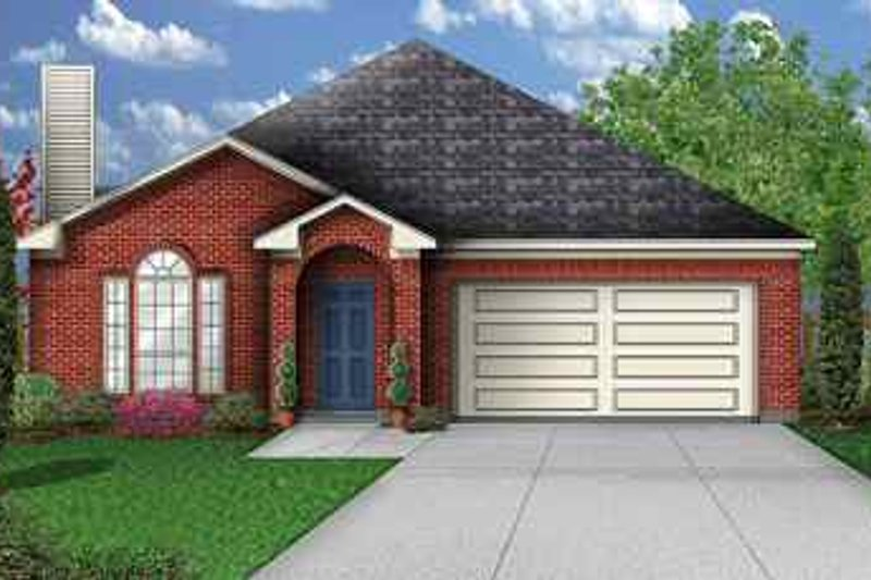 Traditional Exterior - Front Elevation Plan #84-127 - Houseplans.com