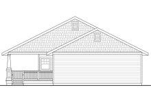 Cottage Exterior - Rear Elevation Plan #124-950