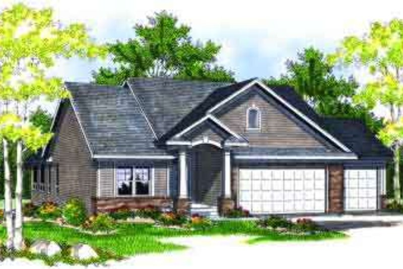 Traditional Exterior - Front Elevation Plan #70-693