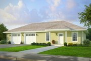 Traditional Style House Plan - 1 Beds 1 Baths 1740 Sq/Ft Plan #124-995 Exterior - Front Elevation