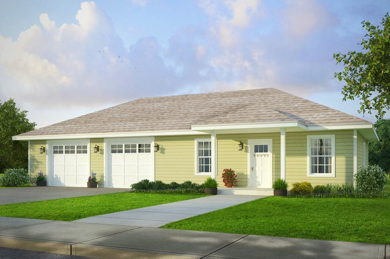 Home Plan - Traditional Exterior - Front Elevation Plan #124-995