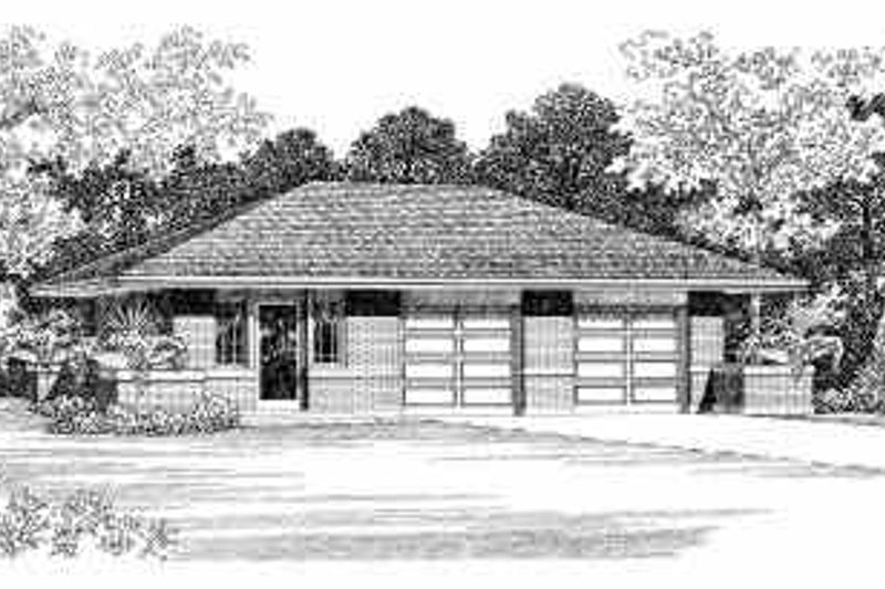 House Blueprint - Traditional Exterior - Front Elevation Plan #72-251